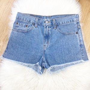 Levi's Vintage Fray Hem Denim Shorts Size 7